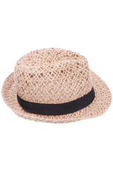 Hang-Qiao Fedora Jazz Straw Hat (Brown) - picture 2