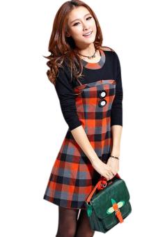 HANG-QIAO Long-Sleeved Dress (Multicolor)