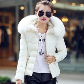 Hang-Qiao Short Down Jacket Women Warm Thick Heavy Coats (White) - intl - 2