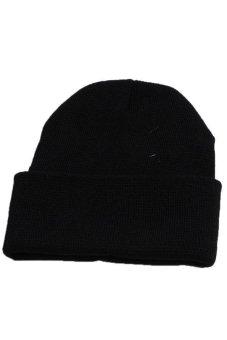 Hang-Qiao Warm Plain Beanie Hip-hop Ski Knit Hats Unisex Black - picture 2