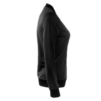 HangQiao Women Jackets Long Sleeve Shawl Neck Plain Causal Coat(Black) - intl - 4