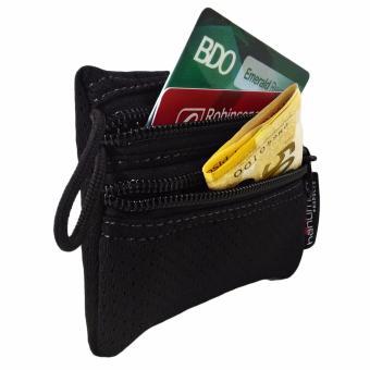 HANUMAN 2 zipper Wallet coin money purse pouch Set of 3 (Black) - 3