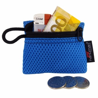 HANUMAN single-zipper wallet coin money purse pouch ( Blue )