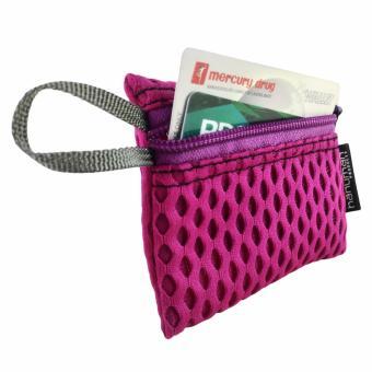 HANUMAN single-zipper wallet coin money purse pouch ( Lavander Pink) - 2