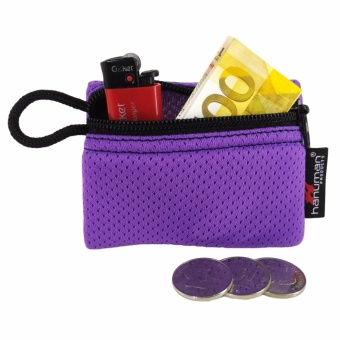 HANUMAN single-zipper wallet coin money purse pouch ( Purple )