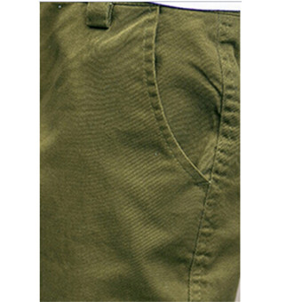 Hanyu Cotton Solid Causal Trouser Pants for Men Green - 2