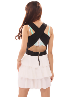 Hanyu Cross Sleeveless Dress (Black)