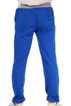 Hanyu Men Long Pants Elastic Trousers Blue - picture 2