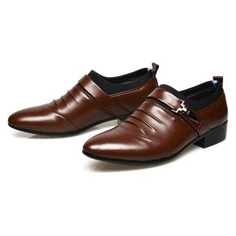 Hanyu Men's Formal Business Leather Shoes Casual Formal Shoes(Brown) - intl