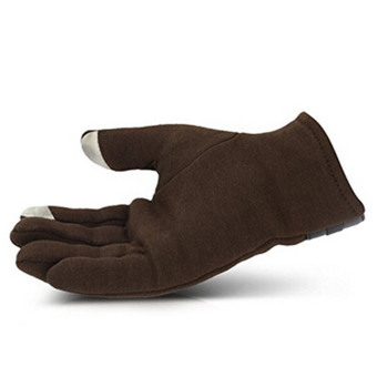 Hanyu Men's Winter Warm Gloves Touch Screen Gloves SmartphoneTexting Stretch Full Finger Adult Gloves Coffee - intl