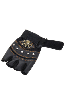 Hanyu Outdoor Men Fitness Gloves Leather Gloves Black