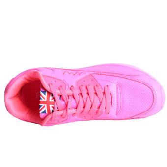 Hanyu Print Sports Fashion Casual Heeled Travel Shoes for Women Pink - 3