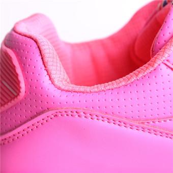 Hanyu Print Sports Fashion Casual Heeled Travel Shoes for Women Pink - 5