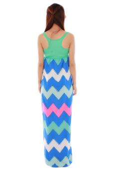 Hanyu Splice Skirts Sexy Beach Dresses (Green) - picture 2