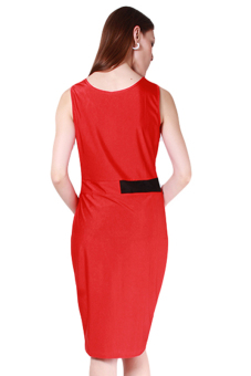 Hanyu Women Sexy Fashion Dresses European Style Dress Red - picture 2