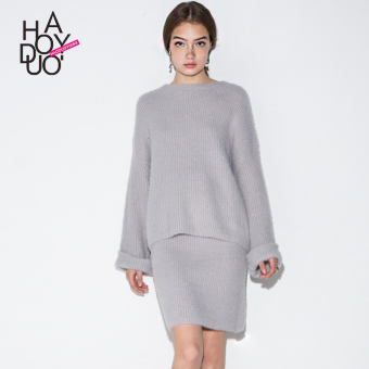 Haoduoyi2017 European and American solid color New style soft skirt