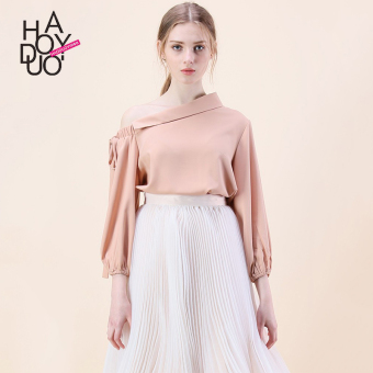 Haoduoyi2017 sweet autumn New style elegant solid color shirt