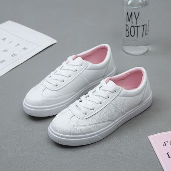 Harajuku Korean-style female autumn New style casual sports shoes white shoes (Pink) Price Philippines