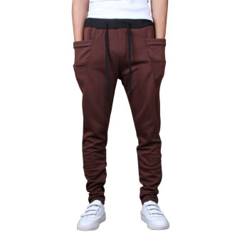Harem Low Crotch Hip-hop Pants for Men Boys Coffee Price Philippines