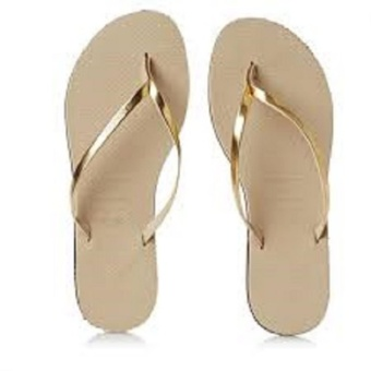 Havaianas Fashion for Women You Met Cf Areia Flip Flop (Beige)