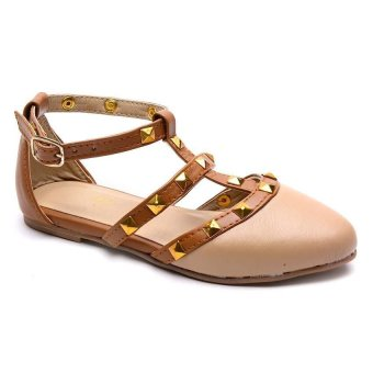 Hdy Valerie Flats Shoes (Beige/Tan)