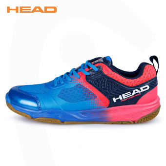 Head breathable non-slip wear and damping sports shoes professional badminton shoes (1765-sapphire blue)