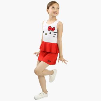 Hello Kitty Girls Peplum Dress (White) Price Philippines