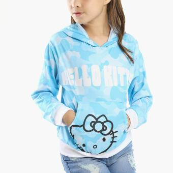 Hello Kitty Girls Pullover Hoodie (Blue)