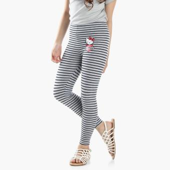 Hello Kitty Girls Striped Leggings (Gray) Price Philippines