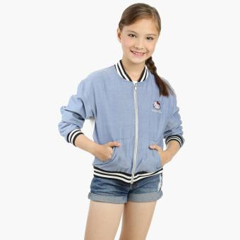 Hello Kitty Girls Zip-front Jacket (Blue) Price Philippines