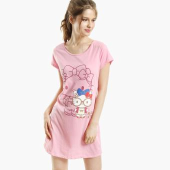 Hello Kitty Glittered Nightdress (Dark Pink)