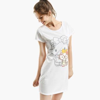 Hello Kitty Glittered Nightdress (White)