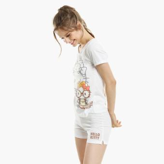 Hello Kitty Glittered Shorts Set (White)