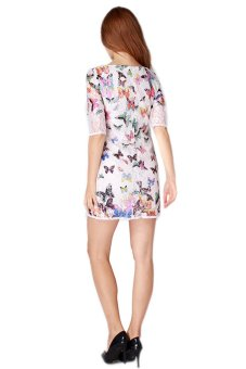 Hengsong Butterfly Printed Dress (Multicolor) - picture 3