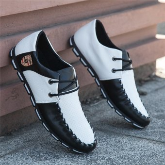 HengSong Fall New Fashion Men 's Casual Shoes Black+White