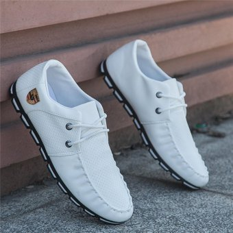 HengSong Fall New Fashion Men 's Casual Shoes White