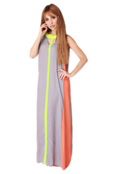 HengSong Fashion Women Loose Dress Maxi Dress Grey