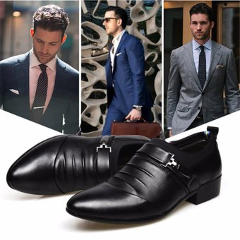 HengSong Men's Formal Business Leather Shoes Casual Formal Shoes (Black) - intl - 4