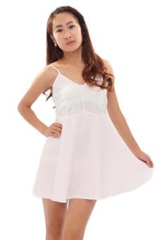 HengSong Sexy Bud Silk Condole Belt Skirt (White)