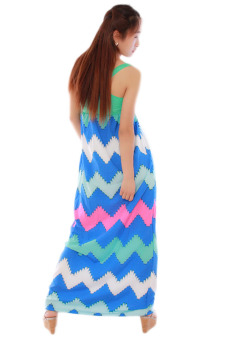 HengSong Splice Skirts Sexy Beach Dresses (Green) - picture 2