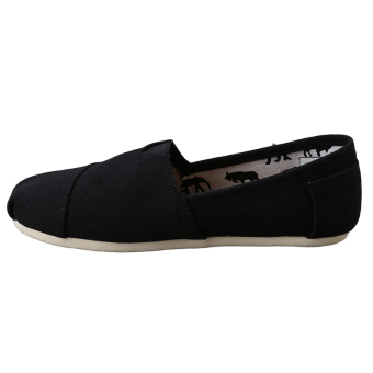 HengSong Tom Thomas Canvas Shoes Pure Color Flat Casual Shoes Couple Lover Shoes Black - Intl - 4