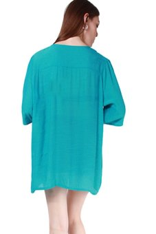 Hengsong Women Casual Short Tops Sleeve T-Shirt Loose Blouse Green - picture 2