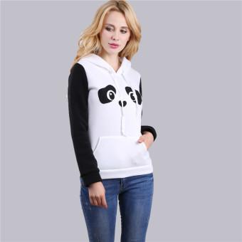 HengSong Women Ladies Casual Panda Pattern Long Sleeve Hooded Thicken Hoodies White - intl - 2