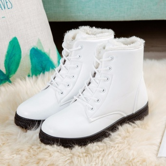 HengSong Women's Snow Boots Martin Boots Outlets Waterproof LadisShoes(White) Price Philippines