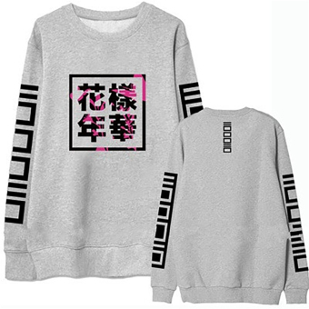 Hequ Bangtan Boys Kpop BTS Women Hoodies Sweatshirts Letter Printed in J-HOPE 94 and SUGA 93 Women Hoodies Grey - intl