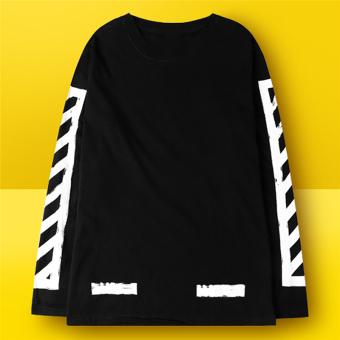 Hequ Fashion Men T-shirt Letter Printed Stretch Cotton T shirt White Short Sleeve Tees tops for men Black - intl - 2
