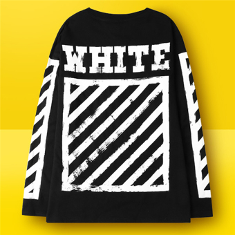 Hequ Fashion Men T-shirt Letter Printed Stretch Cotton T shirtWhite Short Sleeve Tees tops for men Black - intl