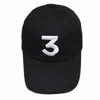 Hequ Popular chance the rapper Hat Cap Black Letter Embroidery Baseball Cap Hip Hop Streetwear Strapback chic style Black - intl Price Philippines