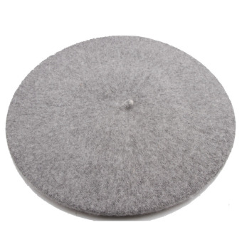 Hequ Wool Blend Beret Beanie Hat Cap (Grey)