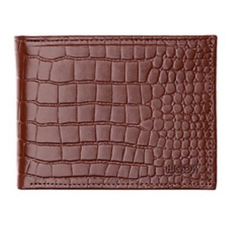 Hickok 31866 Genuine Leather Bi-Fold Wallet with ID Window (Brown)